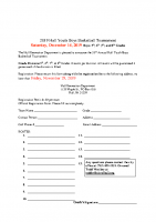 2019 Hull Youth Basketball Tournament letter