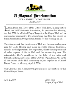 UNITED DAY OF PRAYER FOR THE CITY OF HULL
